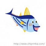 魚のキャラクター