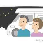 ワゴン車と男女